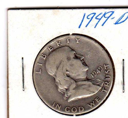1949-D Franklin Half Dollar (Dollar Half President Coin)