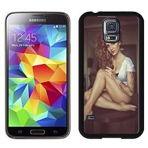 NEW Unique Custom Designed Samsung Galaxy S5 I9600 G900a G900v G900p G900t G900w Phone Case With Julia Balanceva Look At My Tattoo Model_Black Phone Case