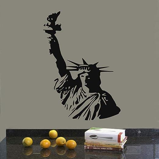 LUANQI Nueva York Estatua de la Libertad Tatuajes de Pared Sala de ...