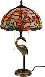 Tiffany European Style Rustic Copper Table Lamp Bedroom Bedside Living Room Study 12 Inch