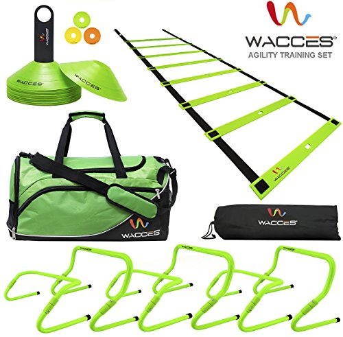 Wacces Sports Exercise & Fitness Training Equipment Speed & Agility Training Kit Combo Set - Green