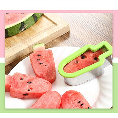 Aalborg125 Kitchen Accessories Tools Creative Watermelon Slicer Cutter Knife Cute Watermelon Popsicle Mold Fruit Slice Model Fruit Platter -