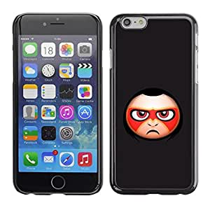 Be Good Phone Accessory // Dura Cáscara cubierta Protectora Caso Carcasa Funda de Protección para Apple Iphone 6 Plus 5.5 // Evil Face