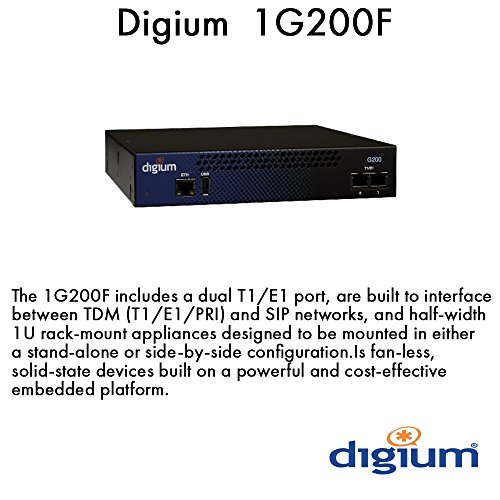 Pbx Asterisk Appliance (Digium Inc. G200 Dual T1/E1/PRI Appliance 1G200F)