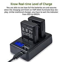 TOP-MAX Dual USB Charger for Nikon EN-EL14 EN-EL14A Battery,Nikon Coolpix P7800 P7700 P7000 P7100,Nikon D3100 D3200 D3300 D5100 D5200 D5300 D5500,Nikon Battery Grip BG-2G,Nikon Battery Charger MH-24