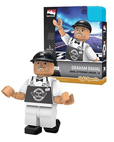 IndyCar Rahal Letterman Racing OYO Graham Rahal Racing Minifigure, Black, Small