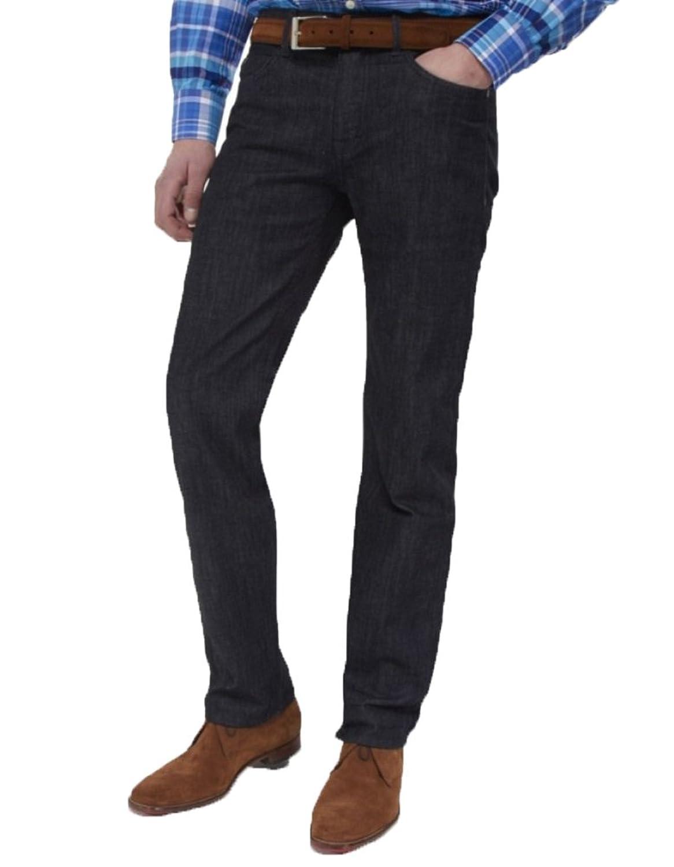 HUGO BOSS Deam20 Dark Blue Denim Cotton Tapered Leg Slim Skinny Jeans