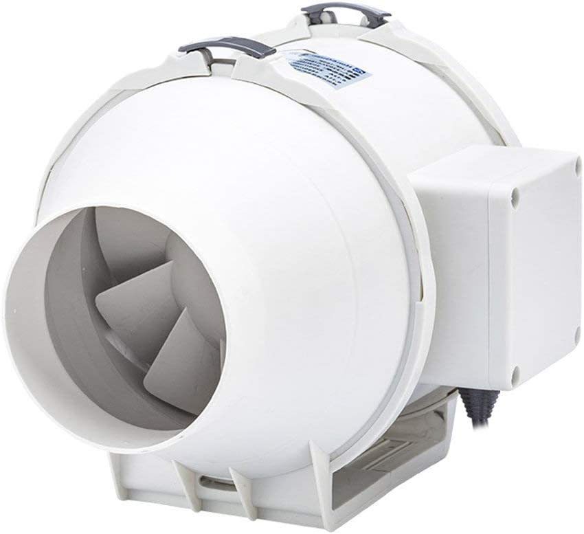 Hon&Guan 4 Inch Inline Duct Fan Exhaust Fan Mixed Flow Inline Fan Hydroponic Air Blower for Home Ventilation Bathroom Vent and Grow Room Ventilation Powerful & Silent Inline Fan 116 CFM (P Series)