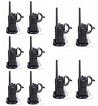 Walkie Talkies Voice Scrambler 10packs with Earpiece for Adults Outdoor CS Hiking Hunting Travelling Long Distance 2 Way Radios by Luiton
