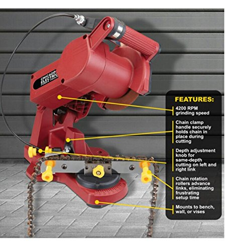 Chicago Electric Electric Chain Saw Sharpener by Chicago Pneumatic (Best Electric Chainsaw Sharpener)