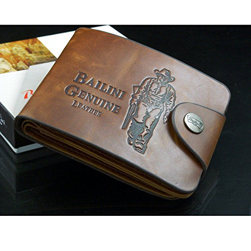Mens Genuine Leather Bifold Wallet Credit/ID Card Holder Slim Coin Purse
