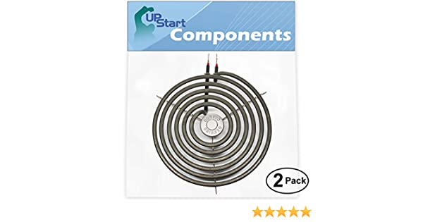 GE JBP21GV2 General Electric JP328SK2SS Compatible with General Electric JXDC41001 General Electric JBP26GV3 2-Pack Replacement WB30M1 6 inch 5 Turns Burner Element for General Electric