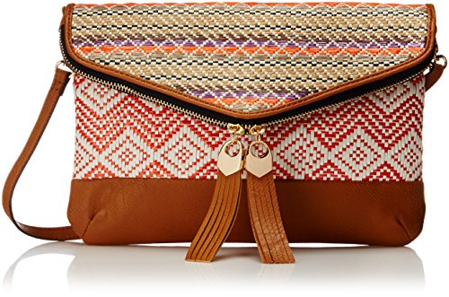 Aldo Drymon Clutch Tan Multi Straw One Size