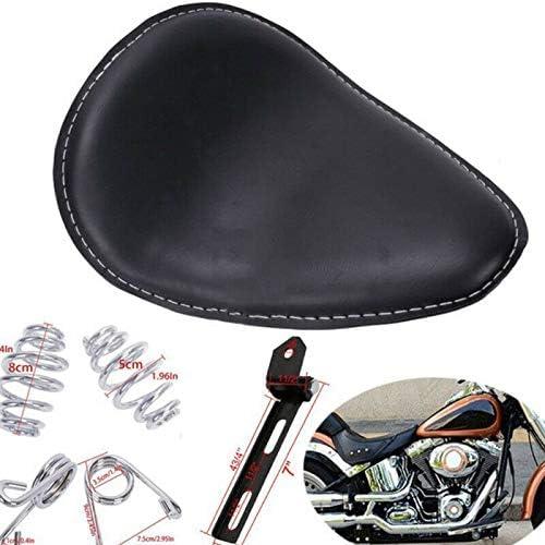 280 * 240 * 80 mm Motorrad-Solositz mit 3Federb/ügelbasis f/ür XL883 XL1200 Chopper Bobber L * B * H MACHSWON Motorradsitz