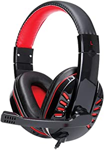 Supersonic Gaming Headphones W/ MIC for PC, Laptops, PS4, Xbox One, Nintendo Wii U& More Black/Red (IQ-450G)