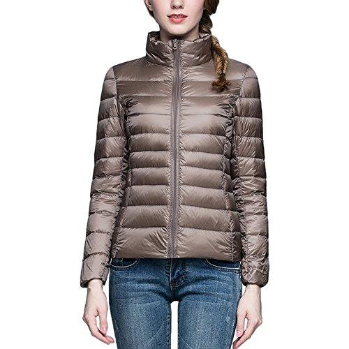 Camel Thin Donna Slim Collar Stand Bmeigo Giacca Rivestimento Inverno Giacche Casual Piumino AORP755nq