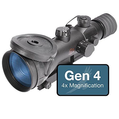 ATN ARES 4-4 Gen 4 Night Vision Rifle Scope, 64-72lp/mm Reso