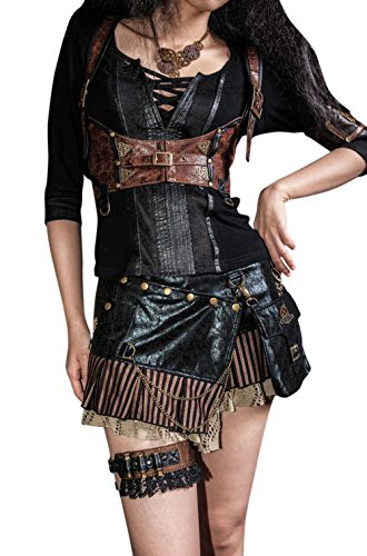 Steampunk Victorian Cincher Mini Skirt