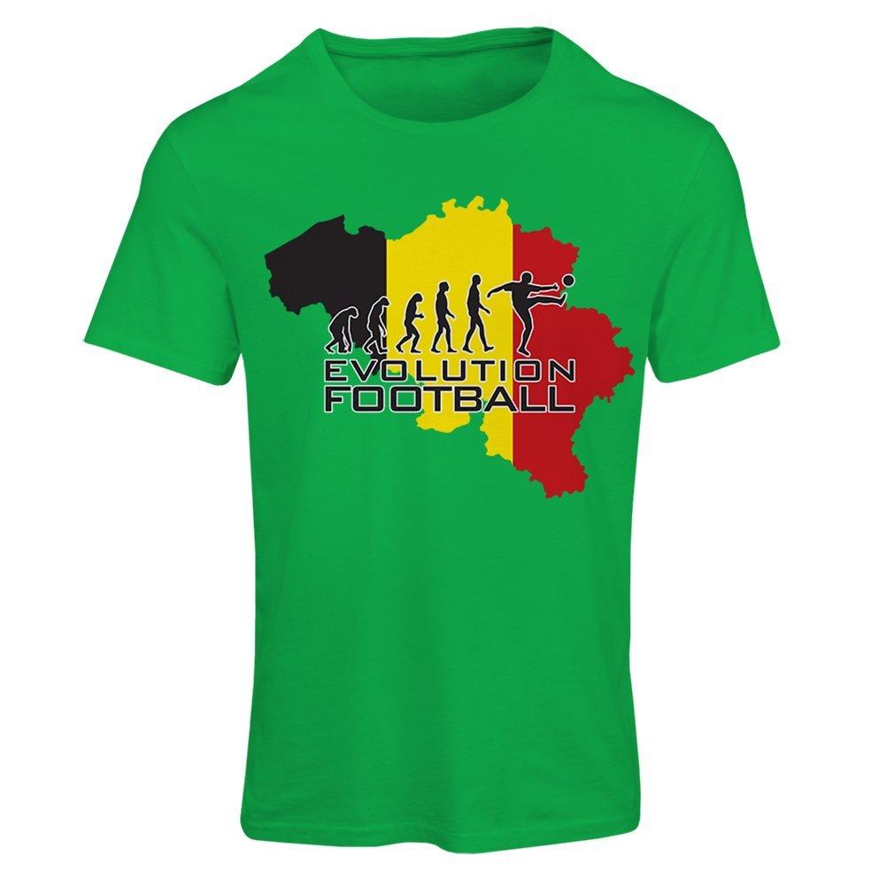 Camiseta mujer Evolution football - Bélgica, La bandera belga: Amazon.es: Ropa y accesorios