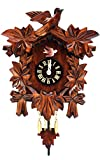 Alexander Taron Importer Black Forest Carved Leaves Clock