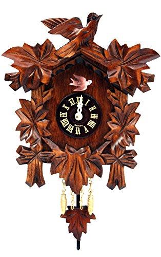 Alexander Taron Importer Black Forest Carved Leaves Clock by Alexander Taron Importer