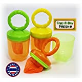 Five-A-Day Fresh Baby Food Feeders with Easy Grip Handles...