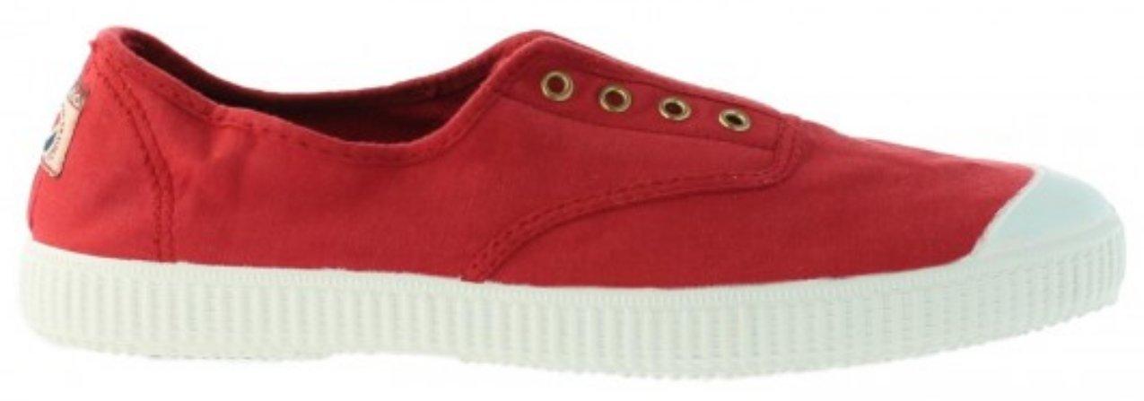Victoria Women's Canvas Inglesa Elastico Fashion Sneakers Made in Spain (42, Rojo)