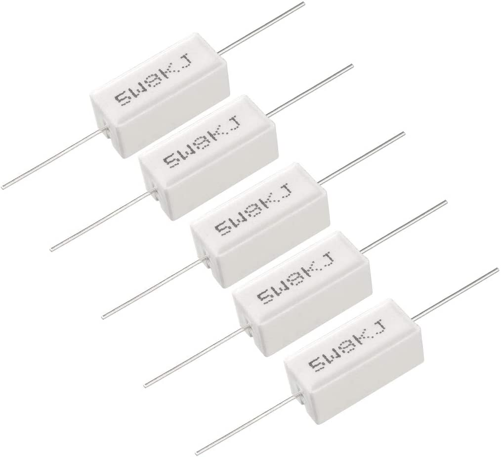 uxcell 30W 68 Ohm Power Resistor Ceramic Cement Resistor Axial Lead White
