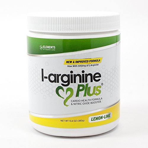 L-Arginine Plus Lemon Lime - L-arginine Formula for Blood Pressure, Cholesterol and More Energy. The #1 Heart Health Supplement (13.4oz.) by L-arginine Plus