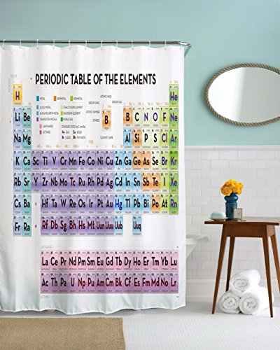 180*180CM Periodic Table of Elements Waterproof Bathroom Shower Curtain - 2