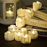 #3: Timer Candles, 12pcs PChero Battery Operated LED Decorative Flameless Candles Flickering Tea Light, 6 Hours On and 18 Hours Off Per Cycle, Perfect for Birthday Wedding Party Home Decor - [Warm White]