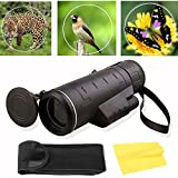 [US Stock] Transer Monocular Telescope - 35X50 High Power BAK4 Prism Low Night Vision Monocular Scope with Storage Bag for Adults Kids Bird Watching Hunting Camping Travelling Wildlife Secenery