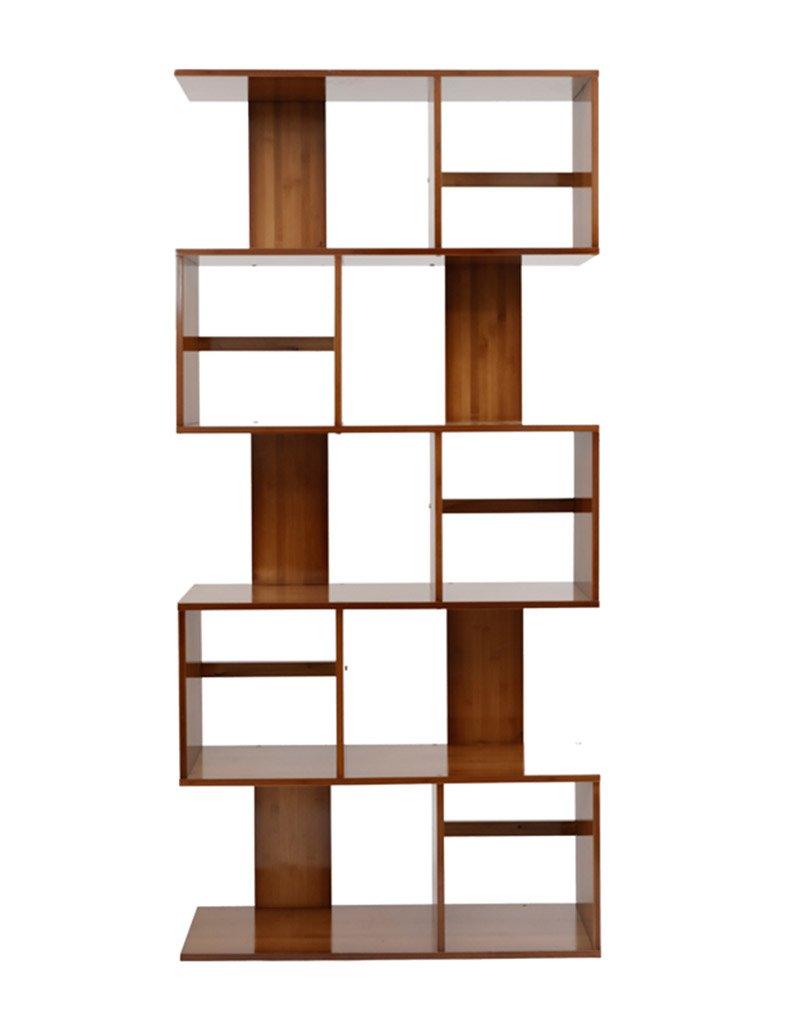 オープンシェルフラック S字型のリビングルーム本棚のフロアシェルフシェルフ本棚の竹クリエイティブ近代的なミニマリスト ホーム (サイズ さいず : 5 layers) B0787P5XXG  5 layers