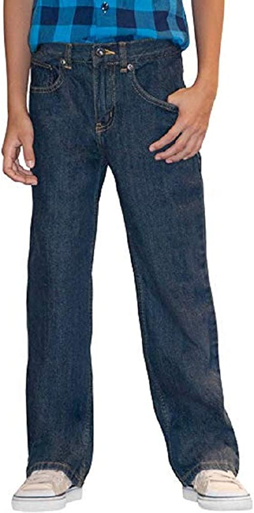 Faded Glory Boys Bootcut Blue Jeans with Adjustable Waist