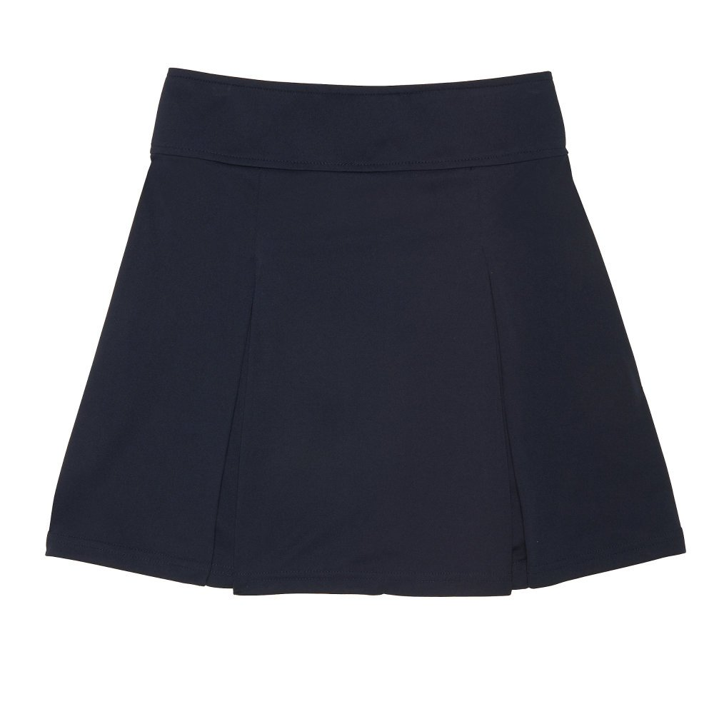 French Toast Girls Plus Size' Pull-on Kick Pleat Scooter, Navy M (10/12P)