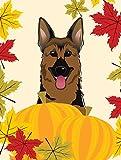 Caroline's Treasures BB2017GF German Shepherd Thanksgiving Garden Flag, Small, Multicolor For Sale