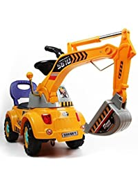 Digger scooter, Ride-on excavator, Pulling cart, Pretend play construction truck (color may vary) by POCO DIVO BOBEBE Online Baby Store From New York to Miami and Los Angeles