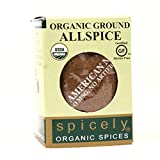Spicely Organic Allspice Powder 0.45 Ounce ecoBox Certified Gluten-Free