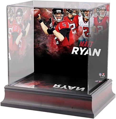 Sports Memorabilia Matt Ryan Atlanta Falcons Deluxe Mini Helmet Case - Football Mini Helmet Free Standing Display Cases