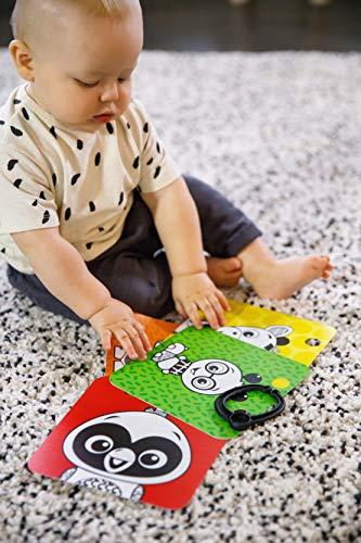 517uV1G%2BP1L - Baby Einstein Flip for Art High Contrast Floor Activity Mirror with Take Along Cards, Newborn+