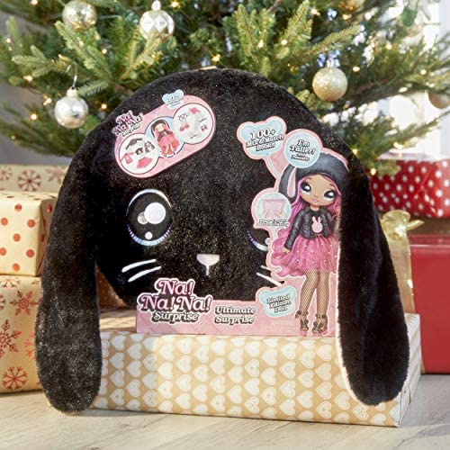 """MGA Entertainment Na Na Na Surprise Ultimate Black Bunny and 11"""" Fashion Doll Surprise Doll with Clothes & Accessories 100+ Mix & Match Looks for Kids Girls"""