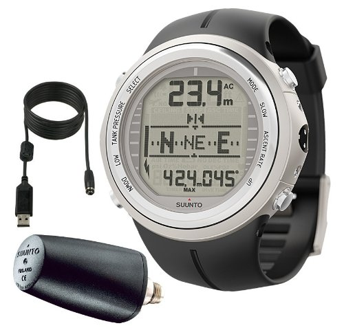 Suunto D9tx Dive Computer Wrist Watch with LED Transmitter & USB PC Download Kit, (Discontinued)