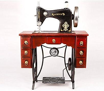 Artesanía ZDQ Máquina de Coser Modelo Vintage Retro Decoración ...