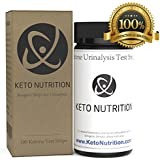 Keton Strips by Keto Nutrition: Ketogenic Test Strips - 100 Professional Grade Urine Ketosis Testing Sticks for Ketogenic Diet, Diabetics, Paleo, Low Carb. Test Kit Measures Ketosis Fat Burning Level