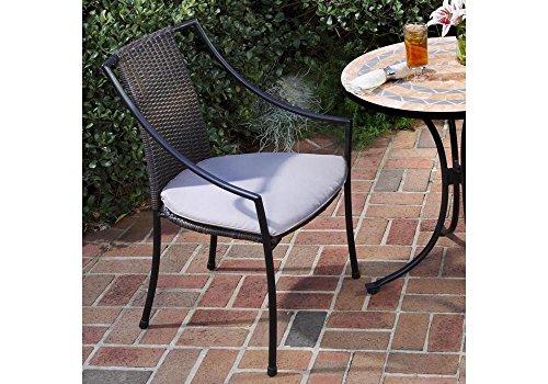 Set Of 2 Laguna Outdoor Slope Arm Chair Walnut Brown/Black Frame Dimensions: 23.25