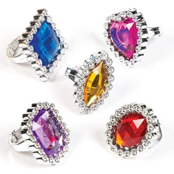 5 PACK OF BLING RINGS  FANCY DRESS  ACCESSORIES party bag filler