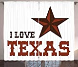 lovely southwest patio design ideas  Texas Star Blackout Curtains, Western Culture Motifs with a Quote About Southwest of United States, Home Decoration Window Treatments Thermal Insulated Grommets Darkening Drapes, 2 Panel Set