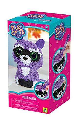 3d Plush (Orb Factory 73374 Raccoon Plush craft Fabric Fun 3D Kit, Multicolor)