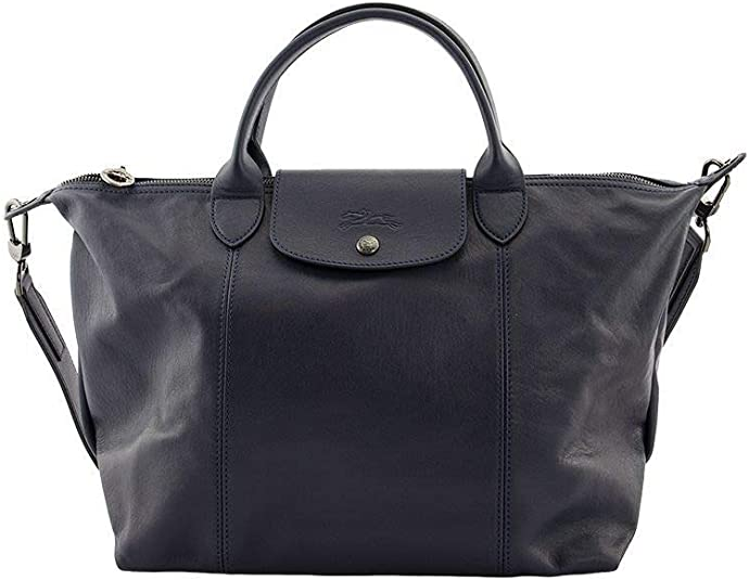 Amazon.com: Longchamp 'Medium Cuir Leather Top Handle Tote ...