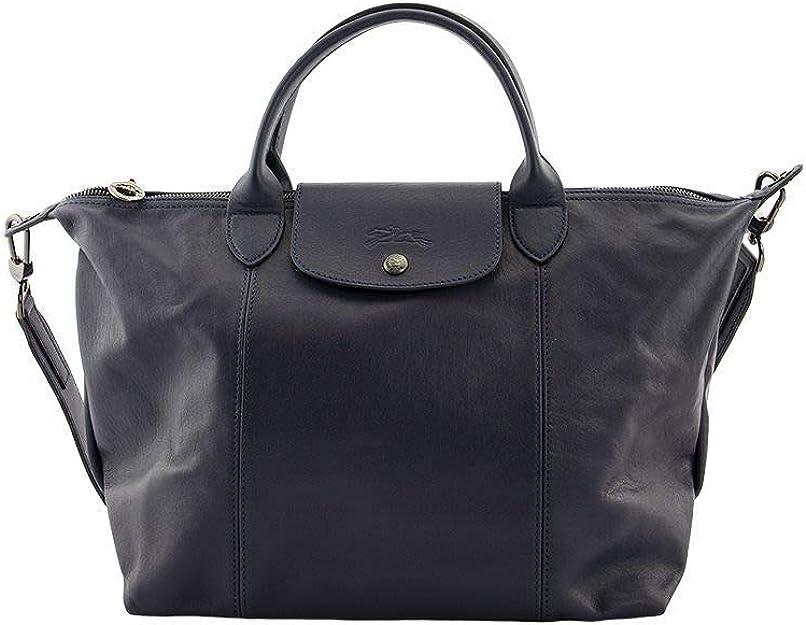 Longchamp 'Medium Cuir Leather Top Handle Tote ... - Amazon.com